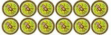 Monkey ~ Birthday, Baby Shower -  Edible Image Rice Paper cupcake Toppers x 12