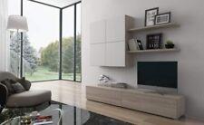 parete attrezzata NOX moderna OLMO E bianco minimal soggiorno ampia salotto
