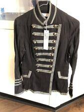 New SUNNY GIRL Long Sleeve Jacket MIliatry Style Sz 8 Black  FREE POSTAGE