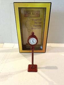 *NEW* MTH RAILKING TRAINS-OPERATING DIE-CAST 1930'S STREET CLOCK-O-SCALE 30-1061
