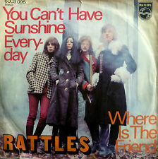 """7"""" 1971 VG+! RATTLES : You Can´t Have Sunshine Everyday"""