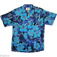 NWT SZ S - 3XL HAWAIIAN BEACH / CASUAL HIBISCUS SHIRT - THREE COLOURS