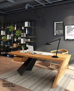 Design Holz Massiv Schreibtisch Computertisch auch nach Mass