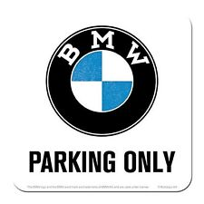 BMW Parking Only cork backed drinks mat / coaster (na)