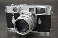 :Leica M3 SS 35mm Rangefinder Camera Kit w 50mm F2 Summicron DR Lens & Case NM