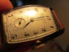 10k Gold Filled Gruen Curvex Mens Precision Art Deco Watch