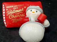 Hallmark 2020 Warm And Cozy Christmas Snowman Movie Channel Ornament New In Box