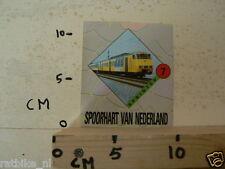 STICKER,DECAL NS SPRINTER TREIN NO 7 SPOORHART VAN NEDERLAND,TRAIN