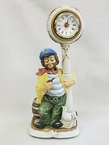"""Rare Melody in Motion Clockpost """"Willie The Sailor"""" Animated Whistling Clock"""