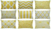 """12x20"""" Yellow Premium Throw Pillow Case Home Decor Sofa Couch Bed Cushion Cover"""