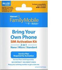 Walmart Family Mobile Starter Kit Powered By T-Mobile Nano Sim Card 3 Of Them