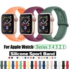 38/42/40/44mm Bracelet For Apple Watch Series 5 4 3 2 Silicone Sports Band Strap