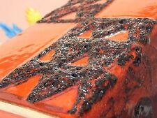Fat Lava Design ~ Vase Rot Keramik ~ 60er Jahre Germany mit Label red black TOP