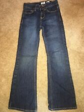 GIRLS BLUE DENIM JEANS PANTS BOOT CUT OSHKOSH B'GOSH SEE AD FOR SIZING 23 IN. WA