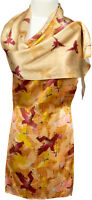 Schal 100% Seide Satin Multicolor 30 x 175 scarf silk soie écharpe schmal