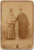 Napoli Cabinet Tenera coppia Bella fotografia originale 1880 ca. A. Mauri L909