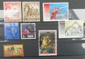 Malta  Postage Stamps 8 stamps used unmounted