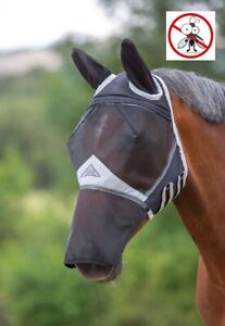 Shires Full Face Mesh Fly Mask With Ears & Nose & Eye Darts & UV Sun Protection
