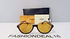 New FENDI Authentic Black Gold FF 0059/S MRZ BZ Limited Edition 52mm Sunglasses