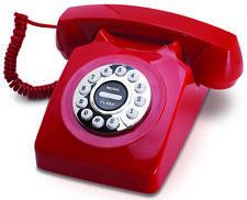 Vintage Telephone - Retro Style Landline Classic Phone Rotary Style Push Buttons