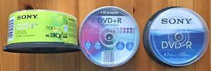 Rohlinge: 16 x CD-R 700 MB SONY, 16 x DVD-R TEVION, OVP, 8 x DVD-R SONY, neuw.
