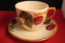 Franciscan Ware Red Apple 5 Cups & Saucers, California mark.[*7C]