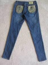 Juniors Sz. 7 Roca wear Jeans Straight Leg with Gold Stitching