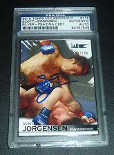 Scott Jorgensen Signed UFC 2010 Knockout Silver Rookie Card #115 PSA/DNA Auto RC
