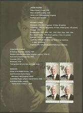 AUSTRALIA 2012 JOHN RAPER Rugby LEGEND Souvenir Sheet ex Prestige Booklet MNH