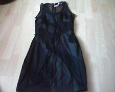 LIPSY BLACK NET NECK DRESS SIZE 8