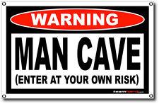 Banner MANCAVE Enter At Your Own Risk Team Hard Funny Warning Shop Garage Fridge
