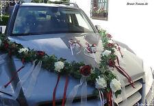4 teilig, Autoschmuck,  Autogirlande Rose, Hochzeit, Braut, individualisierbar!
