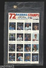 Fleer 1983 SEALED Pack of 72 Baseball Stamps Dawson Seaver Palmer Sutter