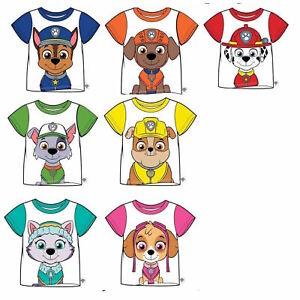 Boys/Girls Kids Genuine Official PAW Patrol T-Shirt  Character Short Sleeve Top