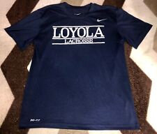 Mens Loyola Lacrosse The Nike Tee Dri-Fit Shirt Sz Medium Rare