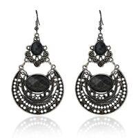Elegant Women Vintage Style Fashion Crystal Rhinestone Dangle Drop Stud Earrings