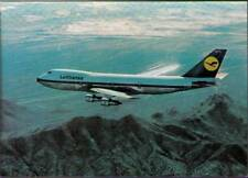 (whv) Airplane Postcard: Lufthansa, Boeing 747