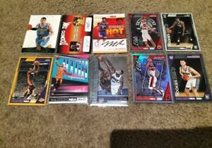 NBA Hoops Insert Card Lot - LeBron/Michael Jordan Printed Auto LeVert Deng