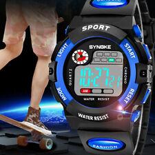 Blue Multifunction Waterproof Child/Boy's Sports Electronic Watches Watch US