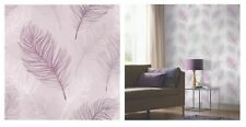 Arthouse Whisper Feather Lavender Purple White Wallpaper 669803 SAMPLE ONLY
