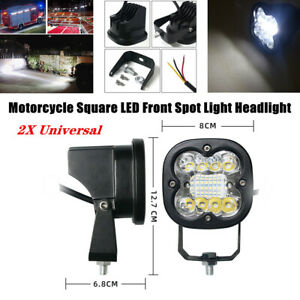 2X Motorcycle Square 20 LED Front Spot Light Headlight Driving Fog Lamp General