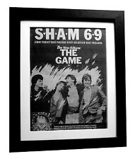SHAM 69+The Game+POSTER+AD+RARE ORIGINAL 1980+QUALITY FRAMED+EXPRESS GLOBAL SHIP
