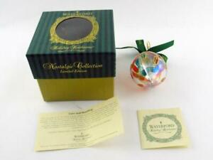 Waterford Holiday Heirlooms Lismore Iridescent Onion Glass Ornament in Box VGC