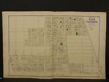 New York Long Island Map 1873 East New York, Double Page N3#82