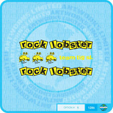 Rock Lobster Bicycle Decals Transfers  Stickers - Set 1