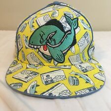 New Era 59fifty Animal Cannibal Salmanella Collection Fitted Cap 7 3/8 Fish Hat