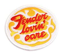 Genuine Fender Lovin' Care Guitar/Bass Iron-On Jacket/Hat Patch 910-0004-044