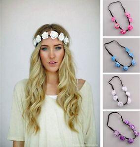 Haarband BOHO Blumenkranz Blume Stirnband Haarblume Hippie Haar Blüte Blumen