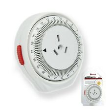 SanSai 24 Hour 240v Programmable Mechanical Timer With Auto Switch On&off