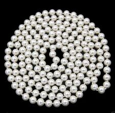 Natural White 8mm Real South Sea Shell Pearl Beads Necklace Jewelry 54''